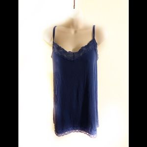 Lane Bryant The Lace Cami Tank Royal Blue 18/20